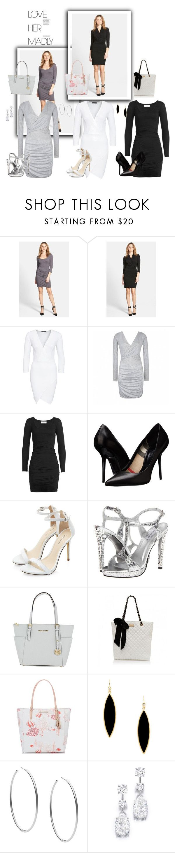 """""""Untitled #22"""" by adelaa1996 ❤ liked on Polyvore featuring Velvet by Graham & Spencer, Club L, Ally Fashion, Velvet, Burberry, Touch Ups, Michael Kors, Forever New, Brahmin and Rivka Friedman"""