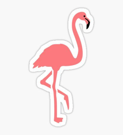 Flamingo Pegatina
