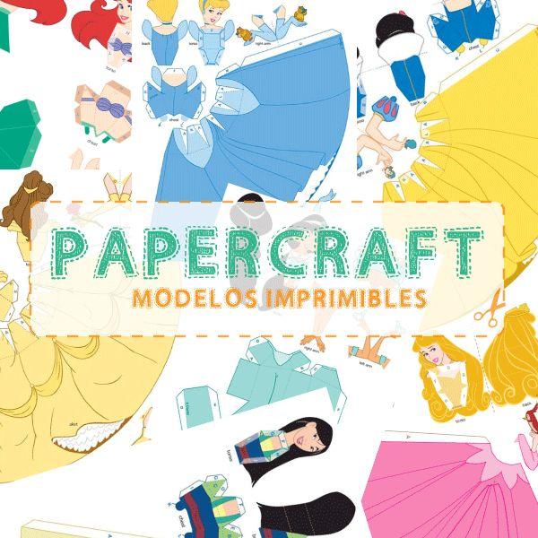 Imprimibles: Papercraft princesas disney