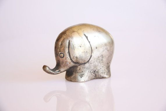 Adorable little baby elephant great antique baby by hipposdream, €24.00