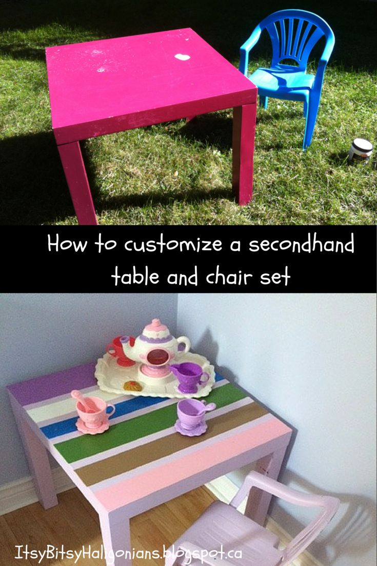 How to customize a child's table and chair set —