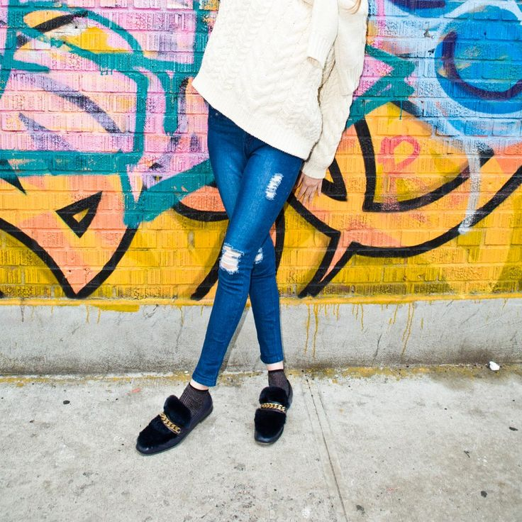 Distressed denim with the stretch of leggings - you never have to choose between comfort and style with HUE.
