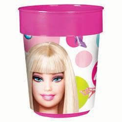 A429379 - Barbie Souvenir Cup Party Cup Barbie Plastic (473ml). Please note: approx. 14 day delivery