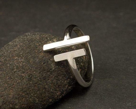 Parallel Bars  Sterling Silver Ring Simple Silver Ring by Artulia