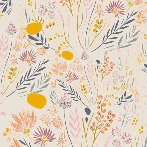morning walk leah duncan / art gallery fabrics / wispy daybreak / fabric by the yard / floral fabric / boho fabric / quilting cotton
