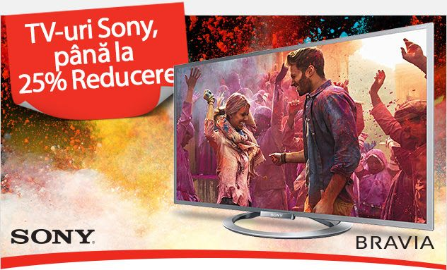 eMAG oferă televizoare Sony Smart TV cu reduceri de până la 25%! - SMRtv.ro   ► http://mbls.ro/1e9piyT  Autor: Claudiu Sima   #reduceri #sony #smarttv