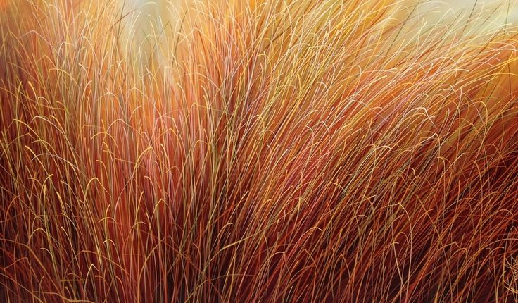"""Whispering Grass"" by Warren Salter www.tuskgallery.com.au"