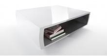 Le Bric, une table basse blanche