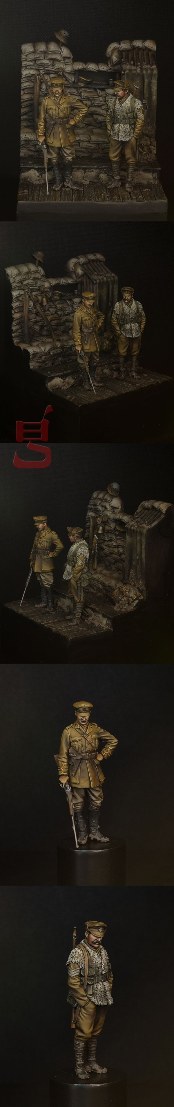 Completed - WWI Trench section, Ploegsteert Wood 1915 | planetFigure | Miniatures