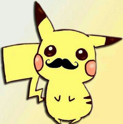 Pickachu Moustache