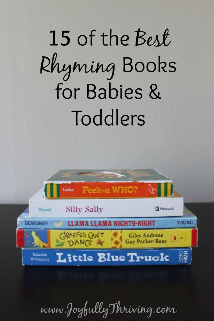 15 of the Best Rhyming Books for Babies & Toddlers - If you're looking for some great rhyming books for your little one, check out this list by a preschool teacher and mom!