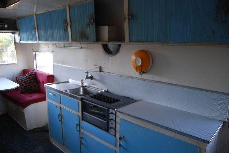 Original old Australian vintage Carapark Caravan, sold for $5000Aud.
