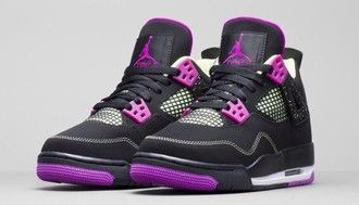 shoes purple jordan shoes black shoes cute girls sneakers jordans