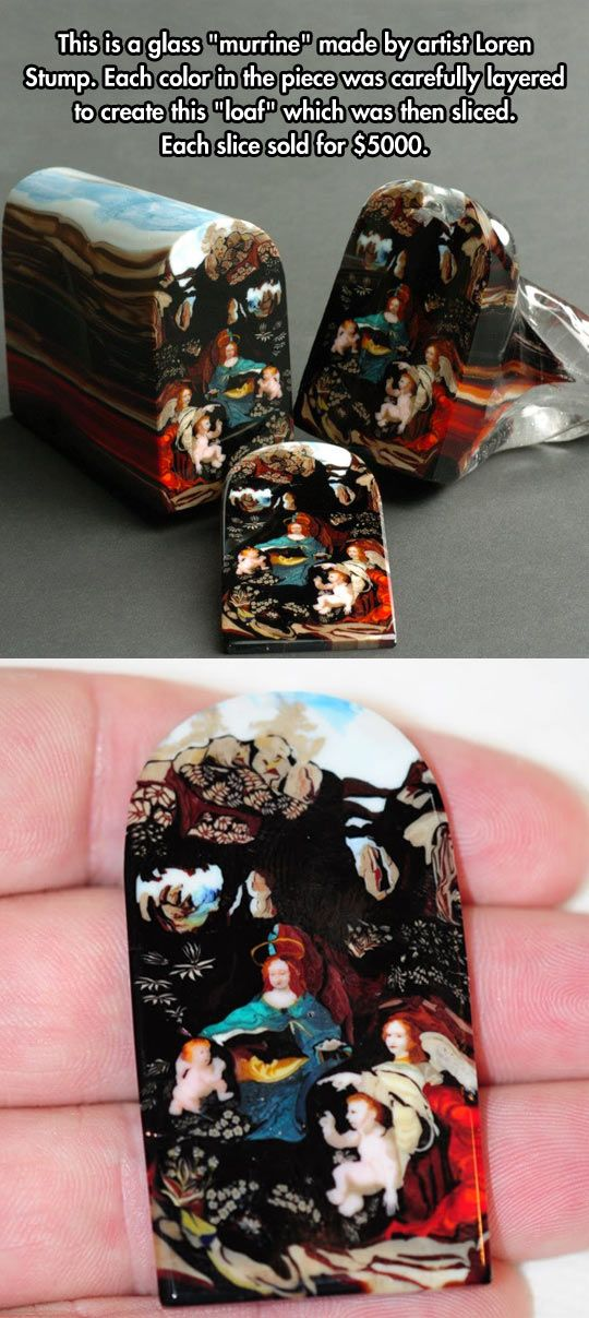 Murrine By Loren Stump - Glass!!!????  That's made of glass???  Holy moley!  I can't even wrap my whole brain around the skill it would take to make something like this!  Incredible!