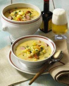 Kartoffelsuppe mit Würstchen Rezept (potato stew with Wieners and bacon... yeah, I said Wieners!)