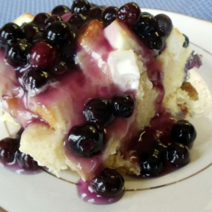 Blueberry Cream Cheese French Toast Casserole Recipe 3 | Just A Pinch Recipes