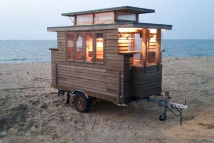 Interesting cross between a Compact Camping Trailer and Tiny House