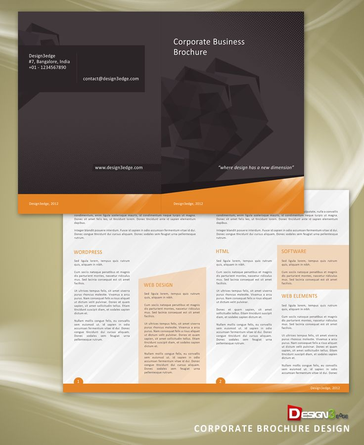 17 Corporate Brochure Design Template: 17 Best Images About Graphic Design Ticklers On Pinterest