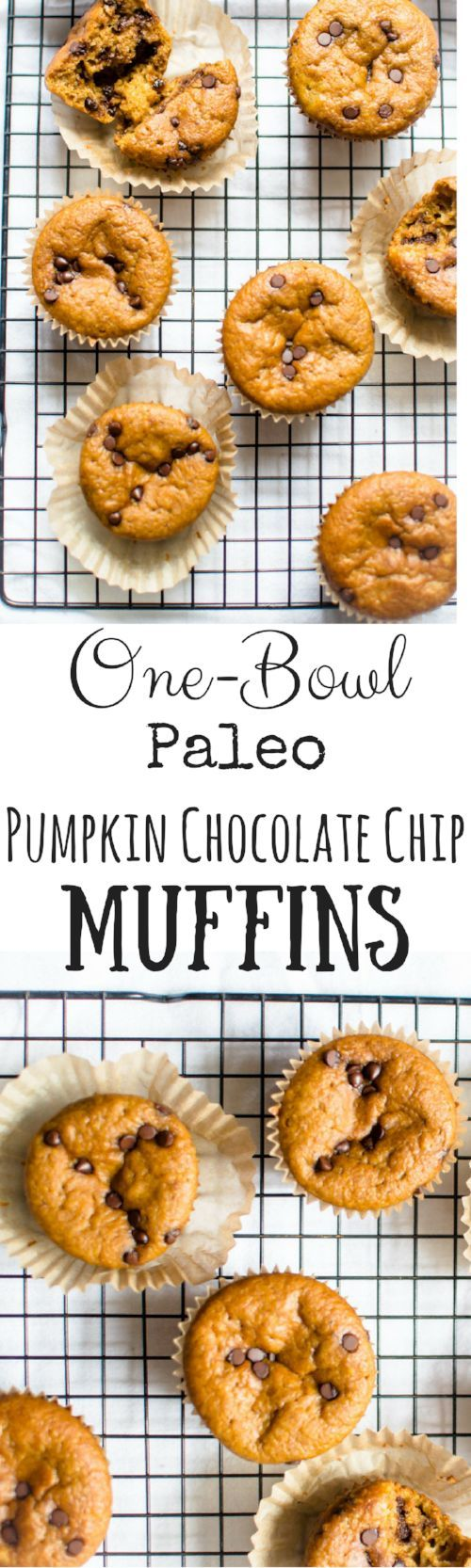 One-bowl recipes are a magical thing, especially when they produce something nourishing and delicious that your family will love! One-Bowl Paleo Pumpkin Chocolate Chip Muffins are super simple to make, great for a quick breakfast, snack, or lunch box filler and simply just tastes like the best parts of fall!