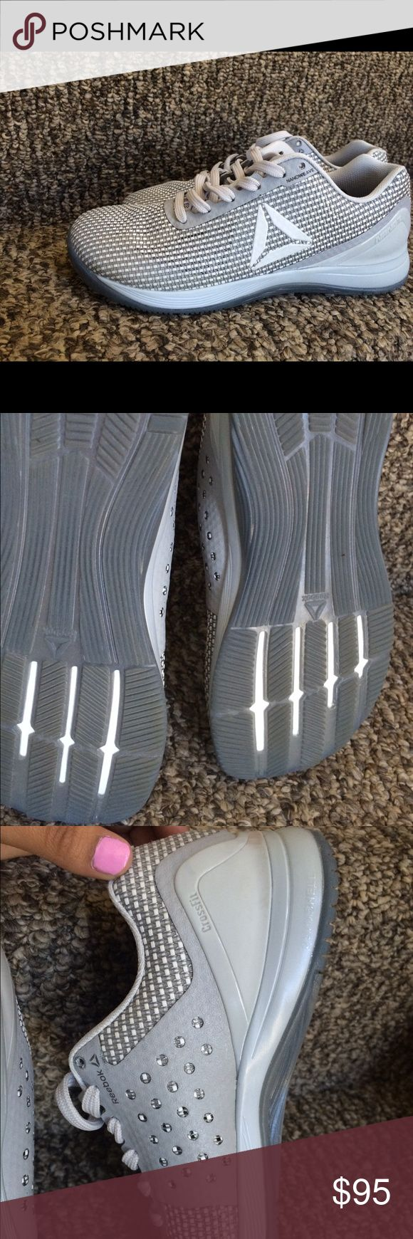 womens reebok crossfit nano 7's used only once! size 7.5 gray and white crossfit nano 7's Reebok Shoes Athletic Shoes