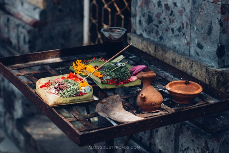 Balinese hindu offerings, Bali, Indonesia