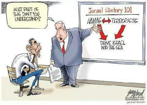 Israel history...God must have put a delusion on Obama to accomplish His will for the end days - he just doesn't get it.