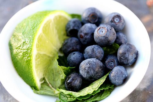 citrus lime with basil & blueberries