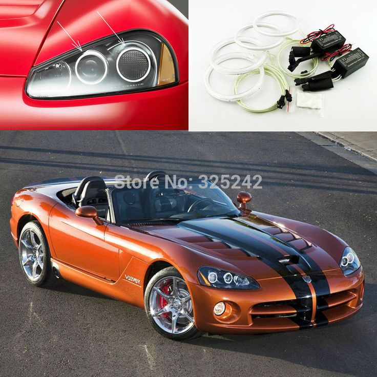 For Dodge Viper 2003-2010 Excellent angel eyes Ultra bright illumination CCFL Angel Eyes kit Halo Ring