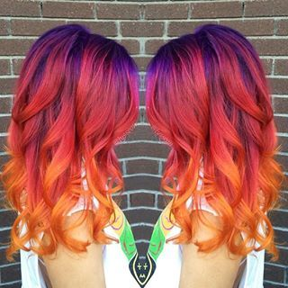 sunset hair color - Buscar con Google