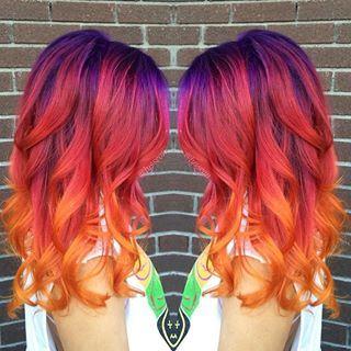 sunset hair color - Buscar con Google