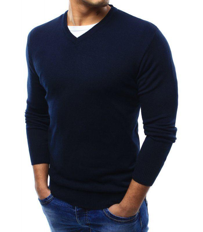 Pánsky tmavomodrý sveter