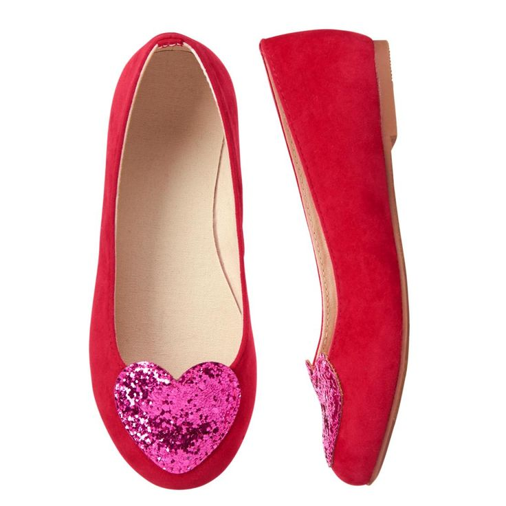 Girls Candy Red Heart Flats by Gymboree