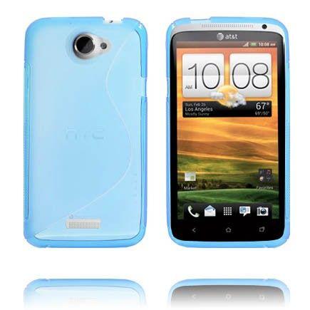 S-Line Läpikuultava (Sininen) HTC One X Suojakuori