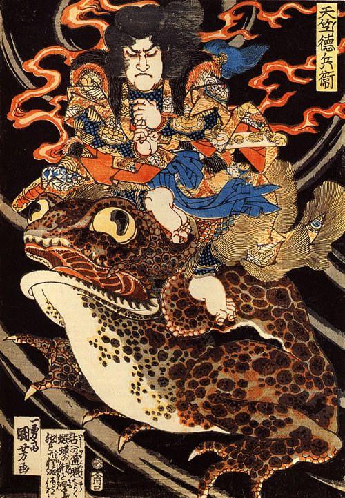 (Image of ukiyo-e master Utagawa Kuniyoshi-end of the Edo period) India Tokubei
