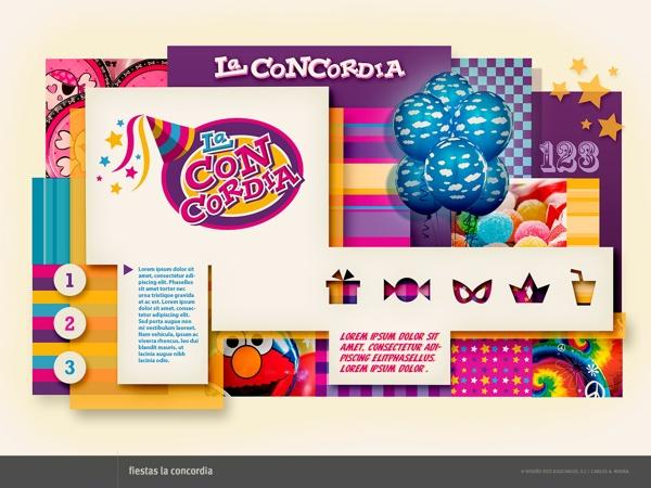 Mapa Visual La Concordia by RiveraCarlos Disegno, via Behance