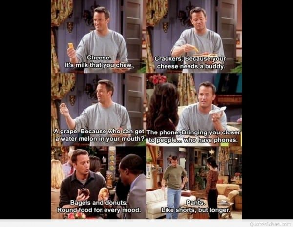 Image Result For Friends Tv Show Quotes About Food With Images