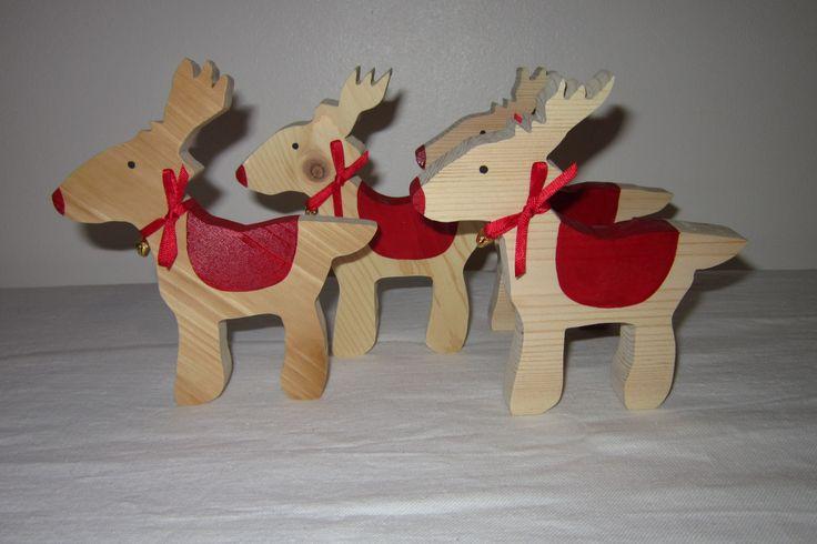 Christmas standing reindeer.
