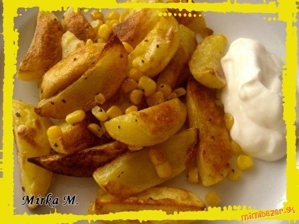 Jednoduchá rýchlovka - opekané zemiaky s kukuricou