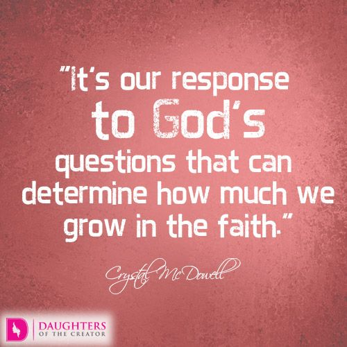 Questioning Faith Quotes: Today's Devotional: God's Questions