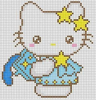 hello kitty cross stitch pattern free