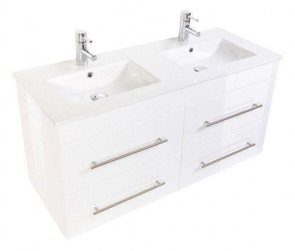 Grosse Badmobel Mit Zwei Waschbecken Mit Unterschrank Und Softclose Schubladen Fur Geraumige Badezimmer Schrank Zimmer Doppelwaschtisch Und Badezimmer