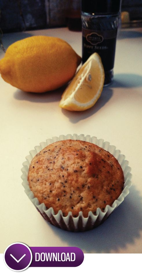Lemon Poppyseed Muffins - eggless recipe!