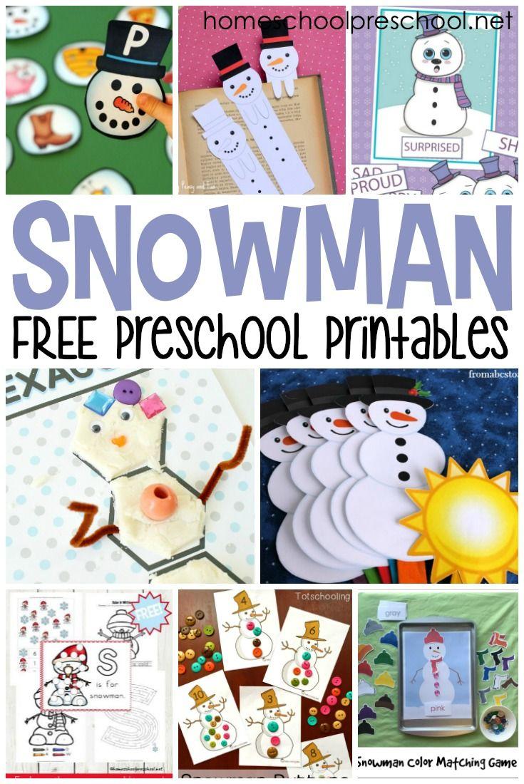 Free Snowman Printables For Preschoolers Winter Activities Preschool Winter Crafts Preschool Winter Kindergarten [ 1100 x 735 Pixel ]