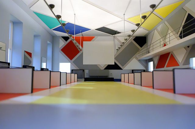 Cinema Dance Hall, Cafe Aubette. 1928-1929. Strasbourg, France. Theo van Doesburg, Jean Arp, and Sophie Taeuber-Arp.