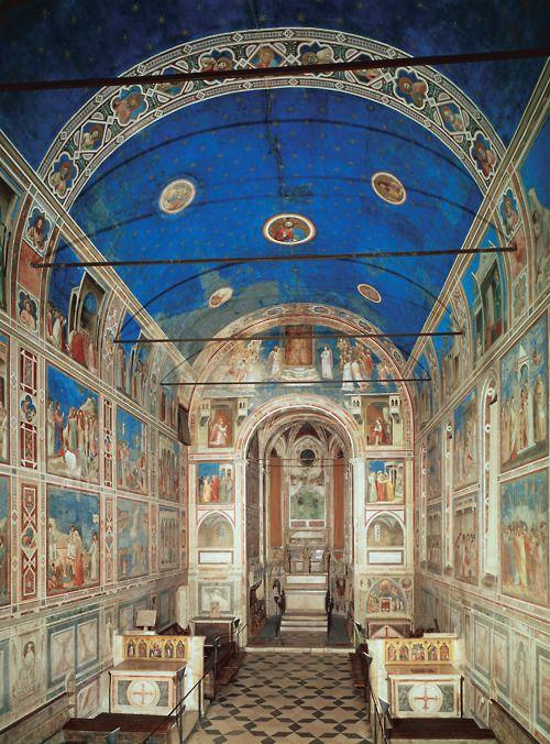 Interior of the Arena Chapel (Cappella Scrovegni), Padua, Italy, 1305-06
