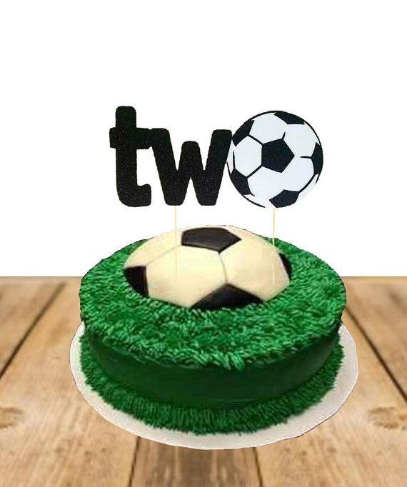 Two Soccer Sports Ball Theme Cake Topper Second Birthday Toddler Boy Sports Birthday Boy Birthda Soccer Birthday Parties Soccer Birthday Boys Bday Cakes