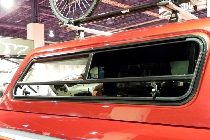 Airstream Travel Trailers >> Leer truck cap with Thule camper shell rack! | SEMA SHOW 2011 | Pinterest | Leer truck caps ...