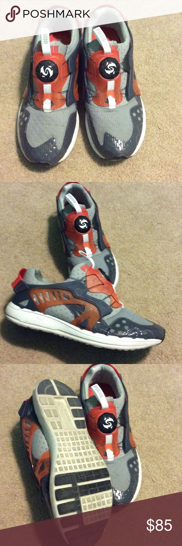 Puma disc Puma men's disc system, great condition almost new grey and orange 10.5 Shoes Athletic Shoes