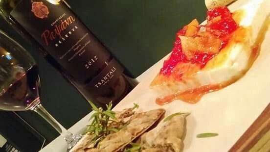 Grilled goat cheese with tomato chutney and bread with rosemary!!Enjoy it with a glass of Rapsani  reserve Tsantalis Winery!!  #cinque #winebarpsirri #winebar #psiri #athens #wines #winetasting #wine #winetime #timeforwine #winelover #lovewine #greekwine #greekgrapes #winegeeks #drinkgreekwine #instawine #winestagram #friends #instafood #drinks #foodporn #food #yamas #yummy #lovefood #supportgreekwine #travel
