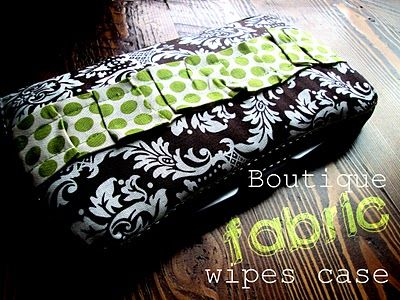 boutique fabric baby wipes case!